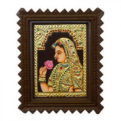 """Maharani Tanjore Painting With Frame 6"""" x 8"""""""