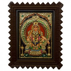 "Tanjore Painting Ayyappa Swamy 6"" x 8"""