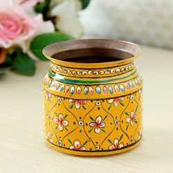 Handpainted Ethnic Copper Kalash Lota