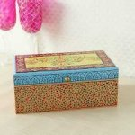 Wooden Handcrafted Handpainted Tea Box Gift