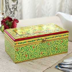 Handpainted Wooden Tea Box Gift Box