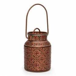 Handpainted Stainless Steel Cannister Jar Cookie Jar