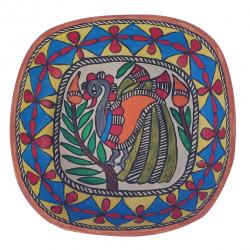 Paper Mache Madhubani Art Decorative Bowl