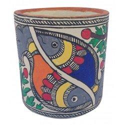 Paper Mache Madhubani Art Decorative Tissue Napkin Holder/ Cutlery Holder