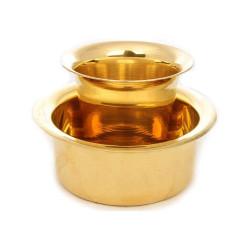 Traditional Brass Davara Tumbler Set/South Indian Coffee Glass Tumbler Set