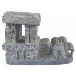 Handcrafted Stone Hampi Chariot Miniature Souvenir Showpiece