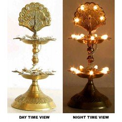 Two Step Electric Brass Diya Par