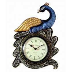 Designer Peacock Design Analog Wall Clock 6 Inch Dial