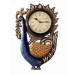 Designer Peacock Design Wall Clock 8 Inch Dial