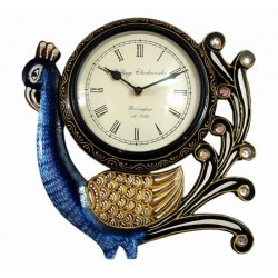Designer Peacock Design Wall Clock 6 Inch Dial