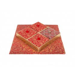 Handmade 4 Parition Dryfruit Box