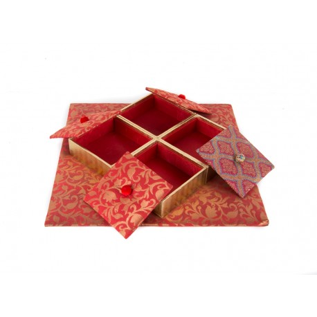 Handmade 4 Parition Dryfruit Box