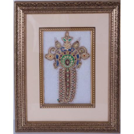 Jewellery Painting on Marble Tile