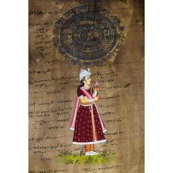 Mughal Empress Painting on Old Stamp Paper