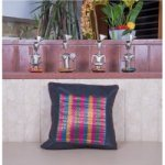 Multi Colour Silk Brocade Cushion Cover