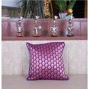 Purple Brocade Cushion Cover