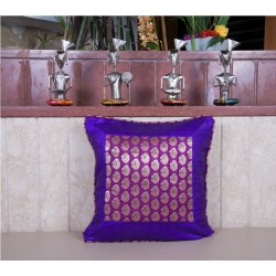 Purple Brocade Cushion Cover