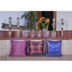 Set of Three Brocade Cushion Cover