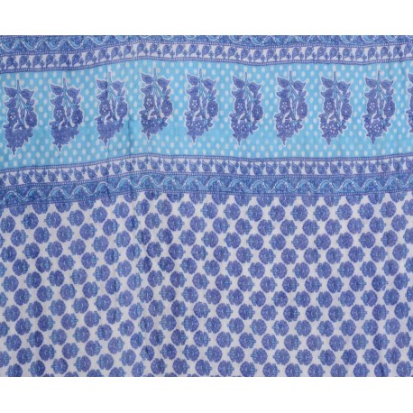 Rajasthani Block Print Blue Single Razai
