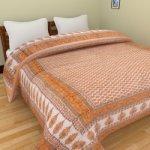 Rajasthani Block Print Orange Single Razai