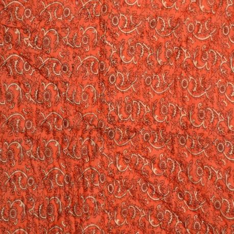 Rajasthani Gold Print Orange Single Razai