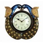 Designer Peacock Design Wall Clock 6 Inch Dial