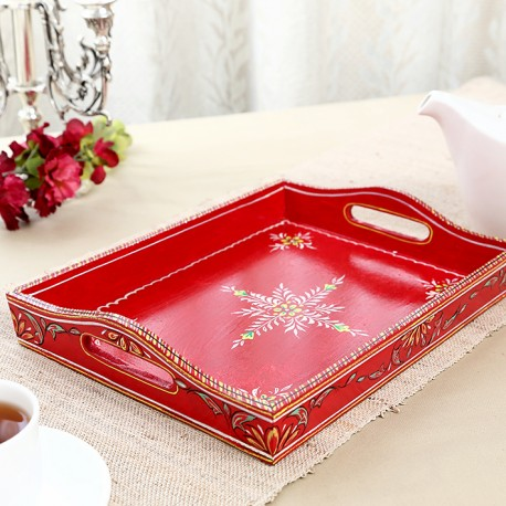 KAUSHALAM LARGE TRAY: RED