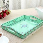 KAUSHALAM LARGE TRAY: SEA GREEN
