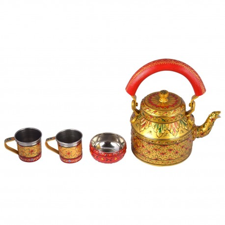 KAUSHALAM TEA SET: Golden Glow ll (2 Cups+1 Bowl)