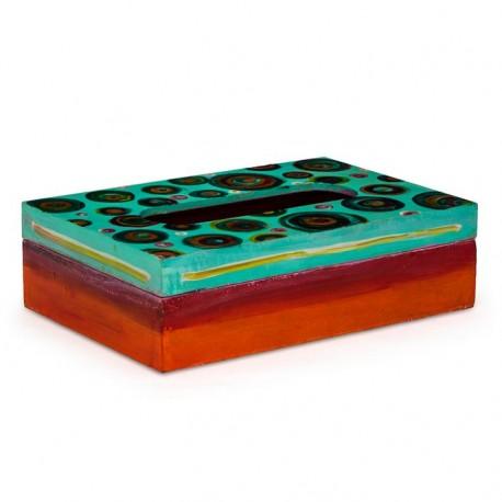 KAUSHALAM TISSUE BOX: SEA GREEN