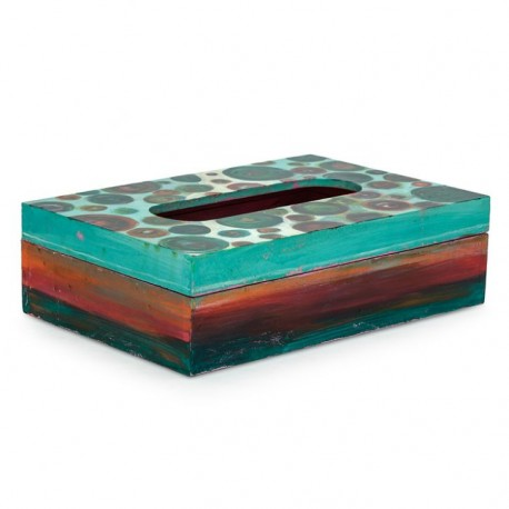 KAUSHALAM TISSUE BOX: SEA GREEN