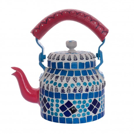 KAUSHALAM MOSAIC TEA KETTLE SMALL: BLUE