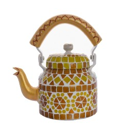 KAUSHALAM MOSAIC TEA KETTLE SMALL: AMBER YELLOW