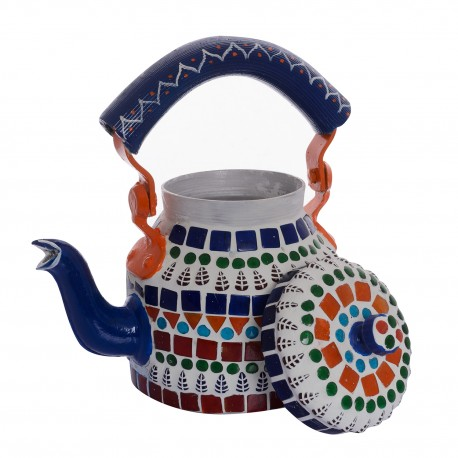 KAUSHALAM MOSAIC TEA KETTLE SMALL: MULTI
