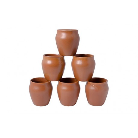 Traditional Porcelain Kulhar Cup Set of Six