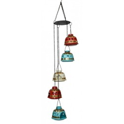 Painted Metal Hanging T Light Holders