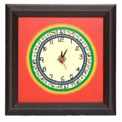 Traditional Bastar Art Painted Wall Clock