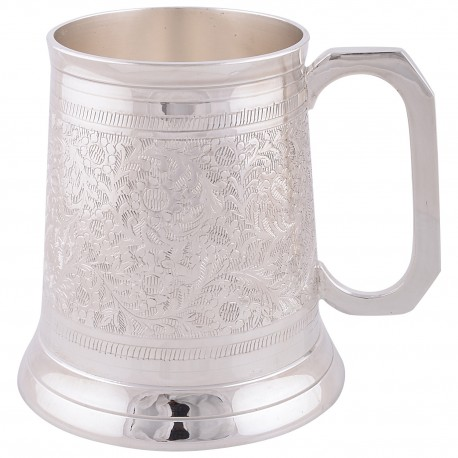 German Silver Beer Mug