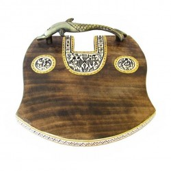 Wooden Warli Art Tray