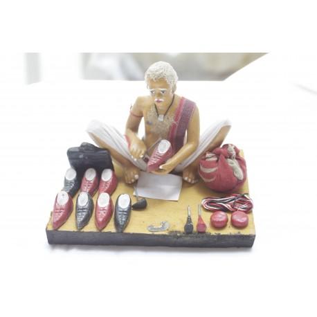 Clay Replica Of Indian Cobbler Showpiece