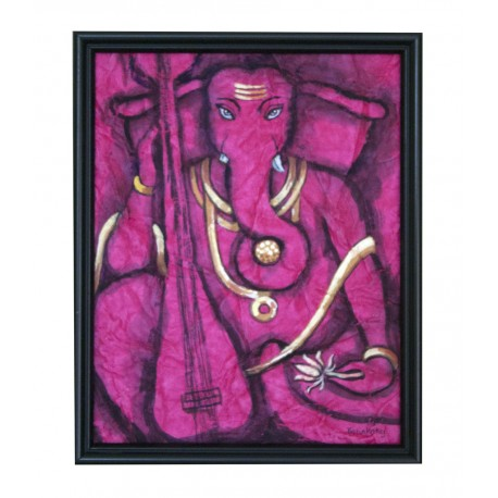 DryBrush Ganesha Painting on Crush Paper