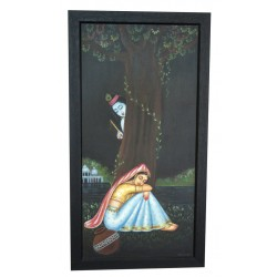 Radha Krishna Under Tree Canvas Painting