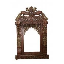 Wooden Carved Rajasthani Jharokha Big 3 feet