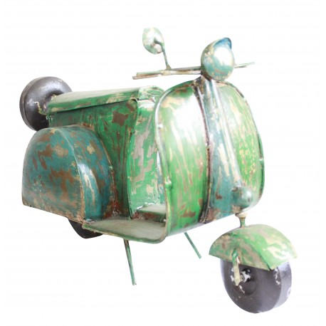 Metal Painted Miniature Vintage Scooter Showpiece