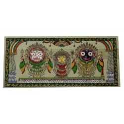 Odisha Pattachitra Puri Jagannath Painting on Palm Leaf