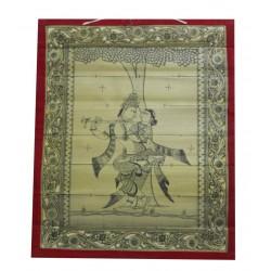 Pattachitra Art Manuscript Radha Krishna Painting