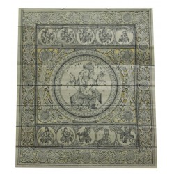 Pattachitra Art Manuscript Ganesha Dashavtar Painting