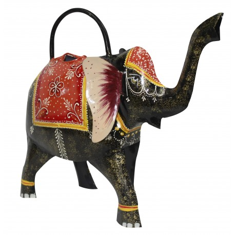 Ethnic Wrought Iron Elephant Design Water Pitcher Plant Watering Can Home Decorative