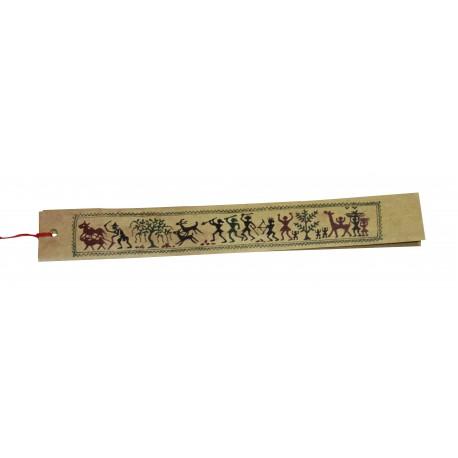 Palm Leaf Handpainted Tribal Orissa Art Bookmark