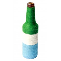 Colourful Twine Wrapped Decorative Glass Bottle Vase